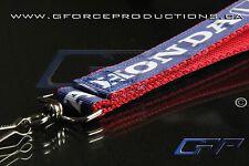 RED Premium Honda Wrist/Palm Lanyard JDM Civic S2000 Prelude Integra CRX RSX