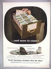 North American Aviation B-25 Mitchell Airplane PRINT AD - 1944