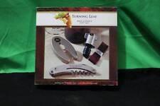 Turning Leaf Wine Lovers Gift Set Corksrew Stopper Foil Cutter Drip Collar