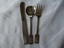child baby spoon fork knife set Viners of Sheffield England 18/8 Stainless Steel