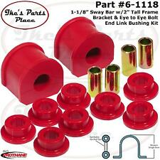 "Prothane 6-1118 1-1/8"" Sway Bar&Eye Bolt-Eye Bolt End Link Bushing Kit-Frt or RR"