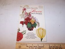 1961 How To Make Flowers With Kleenex Publication - Crafts Art