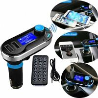 Car Kit MP3 Music Player Wireless Bluetooth FM Transmitter Radio Dual USB SD LCD