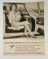 Vintage Chrysler Corp Forward Look Cars Print Ad 1959 Look Magazine Advertising