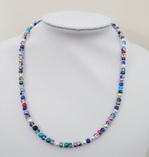 BEAUTIFUL NEW HANDMADE CRACKLE AND PEARL BEAD NECKLACE AND BRACELET SET S20