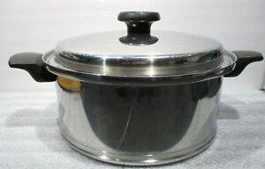 Vintage LIFETIME T304 Stainless Steel 6 Quart Soup Stockpot w/ Lid