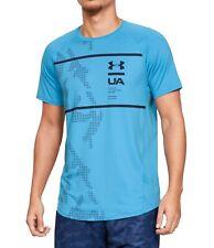 Under Armour Mens Activewear Top Blue Size 2Xl Mk1 Tee Short Sleeve $35 226