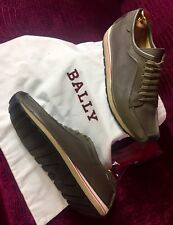 Mens Brown Bally Leather Sneakers Shoes Sz 7 UK / 8 US / 41  EU