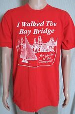 Vintage '80s I walked the Bay Bridge for the life of the Chesapeake t shirt L