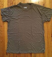 USGI POLARMAX Army Tshirt MILITARY BROWN T-SHIRTS  Large PK OF 4 NEW