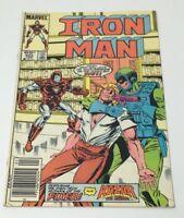 Marvel Iron Man Vol. 1 No 202 Comic Book Feat. Kazar the Savage & Fixer 1986 VG