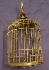 """Antique Chinese Bamboo Bird Cage Decorative Handcrafted Wooden Cage 11 x 24"""""""