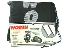 Worth Wpseb Wicked Pro Series Elite Bat Bag w/ Flames Black Red Silver 36x10x12""
