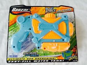 Water Gun Banzai Blast Force Pistol Play Kids Children Fill Easy Wet Fun