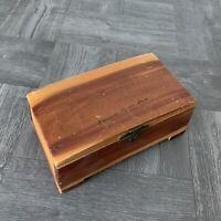 "Vintage Cedar Jewelry Trinket Box Winchester Mystery House Souvenir 6"" x 3.5"""