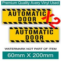 AUTOMATIC DOOR DECAL STICKER X2 PACK SELF ADHESIVE SAFETY OH&S DECALS