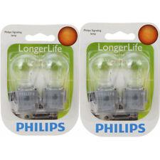 Two Philips Long Life Mini Light Bulb 3156LLB2 for 3156 3156LL P27W 12.8V hg