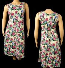 Yakko green purple floral sleeveless round enck ruched back flare dress 2X