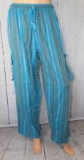 Fair Trade Combat Cargo Trousers Gringo Nepalese Hippy Striped Cotton Hippy L