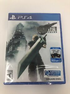 Final Fantasy 7 Remake PS4 Brand New Sealed With Bonus Cards Exclusive