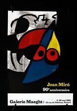Joan Miro -90th Anniversity-Galerie Maeght- 1983 - Exhibition Silkscreen Poster