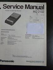 Original Service Manual Panasonic Portable Cassette Tape Recorder RQ-2102