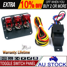 Ignition Toggle Switch Panel Engine Start with Red LED Light For Racing Car SUV