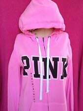 NWT VICTORIA'S SECRET PINK  COLLECTION PINK HOODIE SIZE SMALL