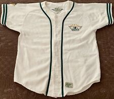 Vintage Roots AEROSMITH Embroidered Medium Baseball Jersey Made in Canada RARE