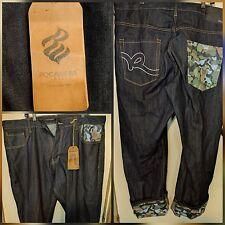 $69 NWT Men Rocawear Jeans Camo Pieced Original Fit Urban Denim Sz 42W 47L