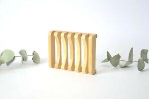 Soap Dish 100% Bamboo Wooden Soap Holder Eco Friendly Body Soap Dish