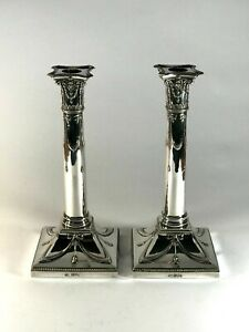 Impressive Pair of Solid Silver Candlesticks Heavy 1861g Mappin Webb 26.5cm