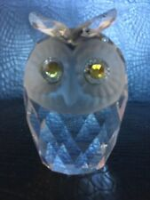 Swaroski Silver Crystal Glass Owl Art 7636 NR 046. Excellent Condition.