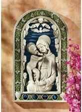 Madonna & Jesus Surrounded by Heavenly Angels & Cherubs Arched Wall Sculpture