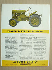 Prospectus Tracteur   LABOURIER   LD 15 Diesel   Non daté  brochure catalogue