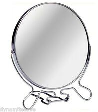 BNew CHROME DOUBLE SIDED COSMETIC SHAVING MIRROR BATHROOM MAKEUP