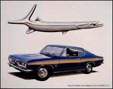 1968 Plymouth Barracuda Formula S Art Print Lithograph