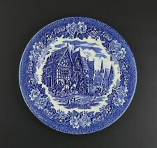 "Vintage EIT English Ironstone Tableware 101/4 "" Plate - Village Coach Willow"
