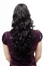 Voluminous Flowing Hair Piece Ponytail Curly Long Black 60 cm N310-1