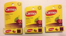 X3 Carmex Classic Lip Balm Medicated Click Stick Cherry Spf 15