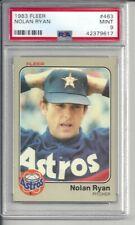 1983 Fleer Nolan Ryan #463 PSA 9 Mint Baseball Card.