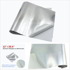 Car Exhaust Engine Hood Heat Shield Barrier Aluminum-Fiberglass w/Adhesive Layer