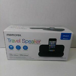 Memorex Ultra Portable Travel Speaker for iPod & iPhone 5/7/8, New