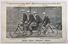 1897 Escursione Ciclistica Militare Genova Livorno Firenze Bologna Milano bici