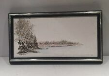 "Jon Gagnon Framed Oil Painting 11 1/2""x 5 1/2"""