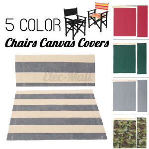 Casual Directors Chairs Replacement Canvas Seat Stool and Back Covers Sheet  *