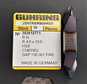 Guhring Centre drill with flat, R 4.0 x 10.0, Fire HSS