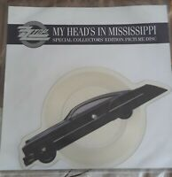 """ZZ Top My Head's In Mississippi 2 Track Shaped 7"""" Vinyl PIcture Disc UK 1991"""