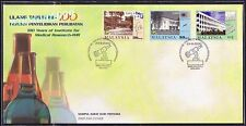 2000 Malaysia 100 Years Institute Medical Research, 3v Stamp FDC (Melaka Cachet)