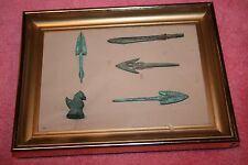 Vintage Chinese 4 Arrowheads or Spears Heads